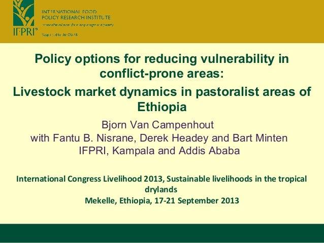 International Congress Livelihood 2013, Sustainable livelihoods in the tropical drylands Mekelle, Ethiopia, 17-21 Septembe...