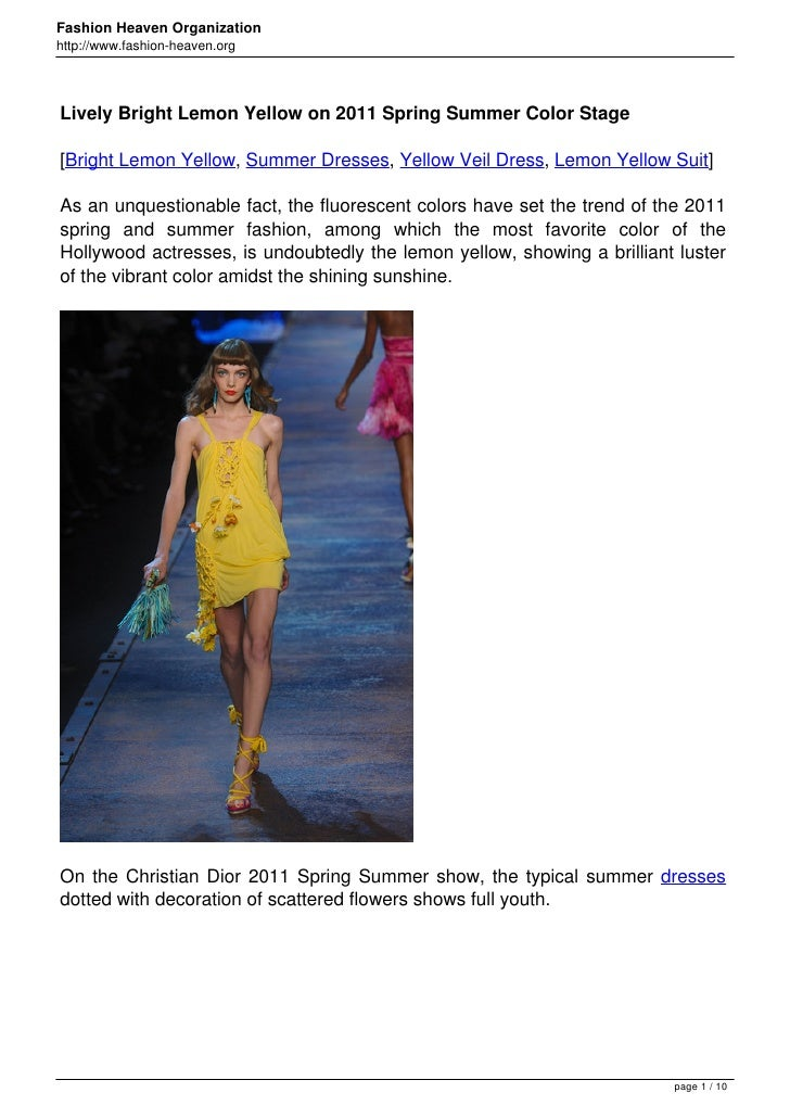 Lively bright-lemon-yellow-on-2011-spring-summer-color-stage en