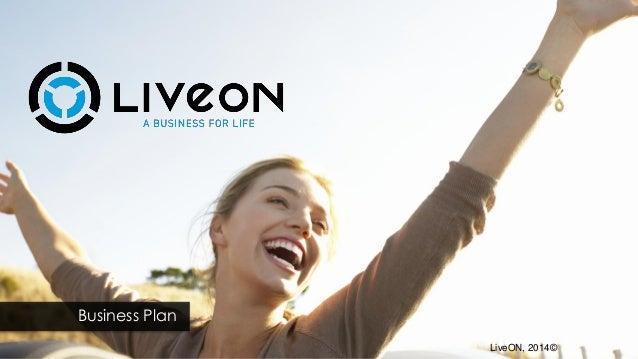 Business Plan LiveON, 2014©
