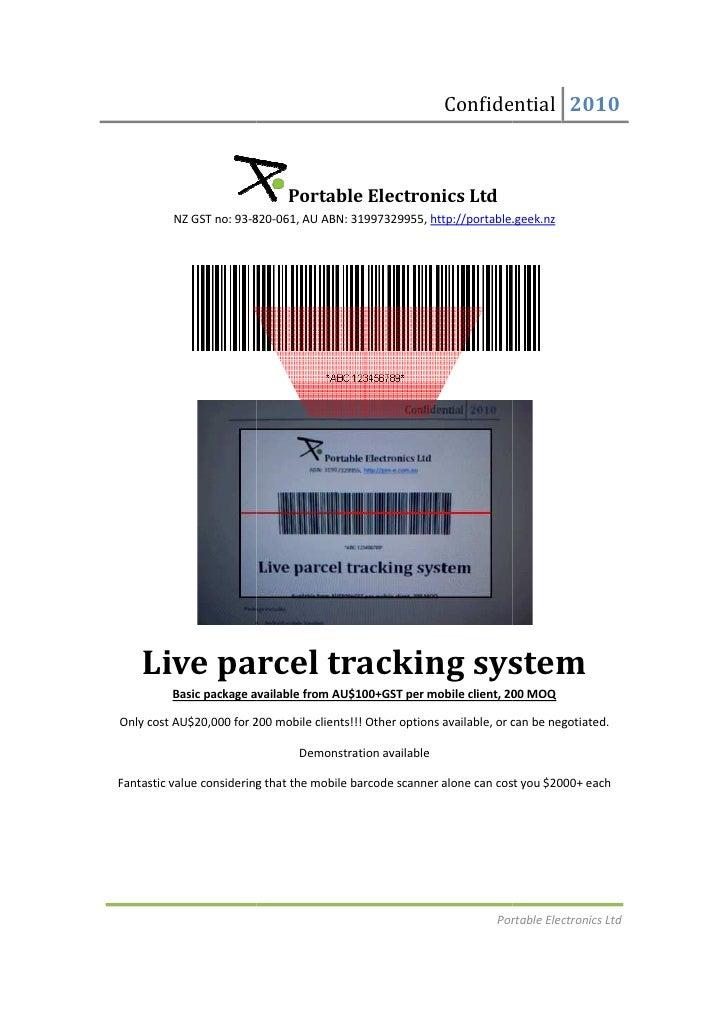 Live parcel tracking system
