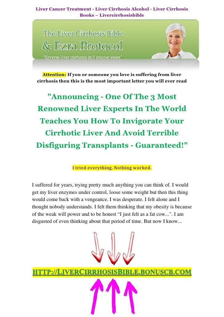 Liver Cancer Treatment - Liver Cirrhosis Alcohol - Liver Cirrhosis Books - Livercirrhosisbible