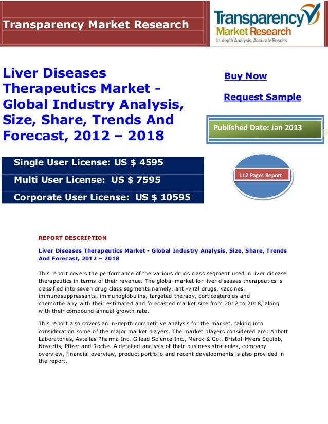 Liver Diseases Therapeutics Market - Global Industry Analysis, Size, Share, Trends And Forecast, 2012 - 2018