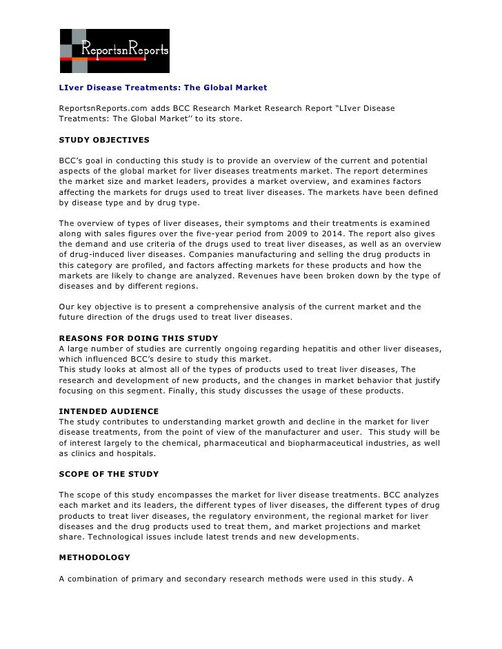 ReportsnReports - LIver Disease Treatments: The Global Market