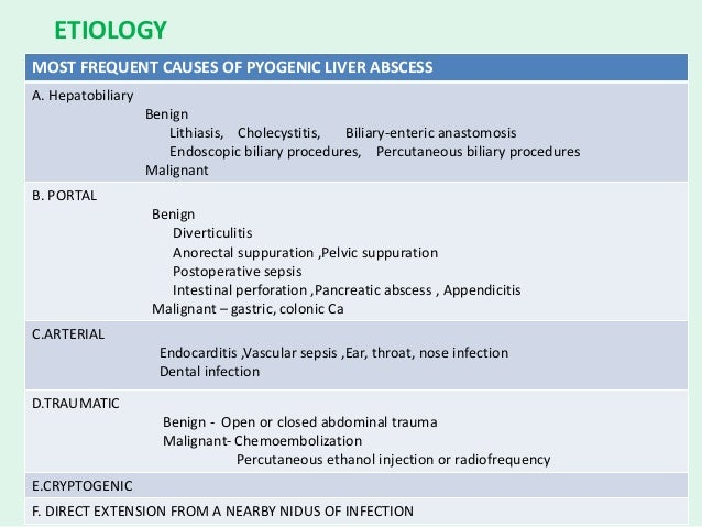Liver infections and infestations