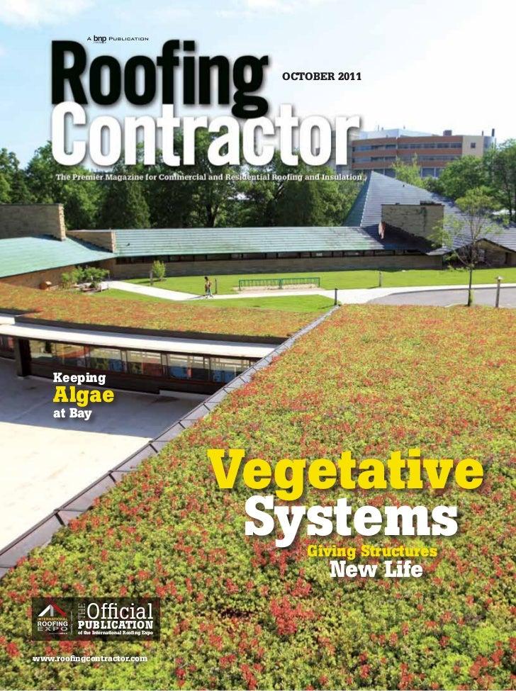 OCTOBER 2011    Keeping    Algae    at Bay                                             Vegetative                         ...