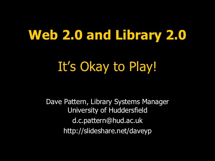 ARCLib - Web 2.0 and Library 2.0