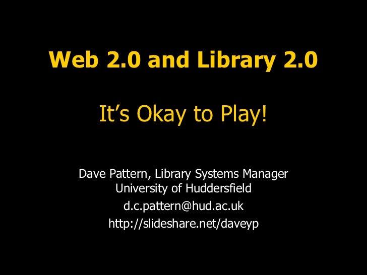 ARCLib - Web 2.0 and Library 2.0