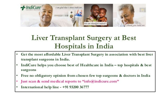 Liver transplant surgery at best hospitals in india