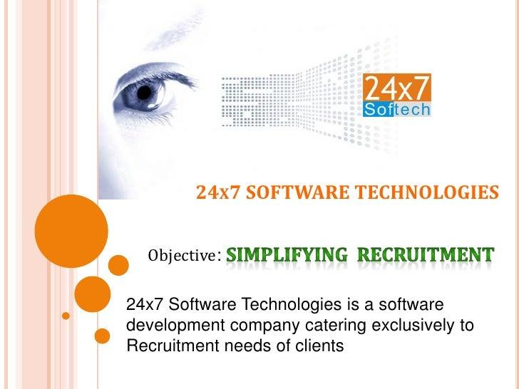 24X7 SOFTWARE TECHNOLOGIES
