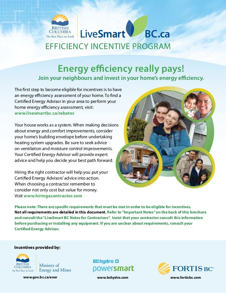 Livesmart BC Energy Effiency Incentive Program