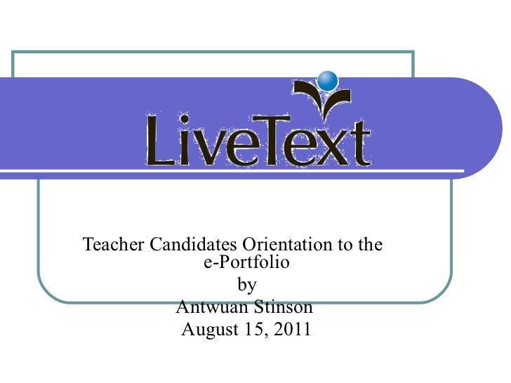 Livetext Presentation