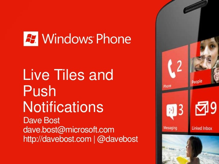 Live Tiles and Notifications in Windows Phone