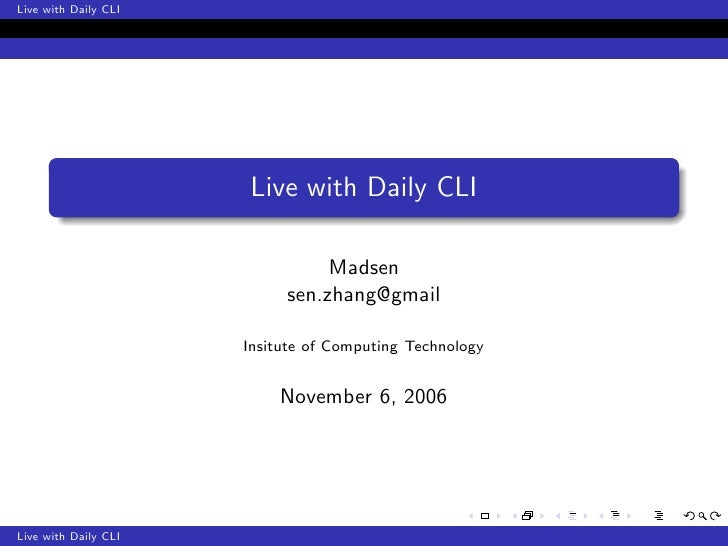 Live with Daily CLI                      Live with Daily CLI                                Madsen                        ...