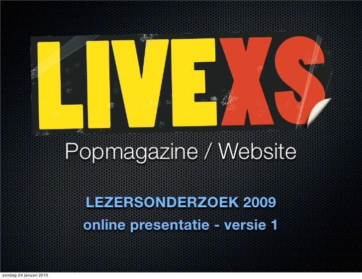 Popmagazine / Website                            LEZERSONDERZOEK 2009                           online presentatie - versi...