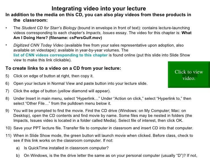 <ul><li>In addition to the media on this CD, you can also play videos from these products in the  classroom:   </li></ul><...