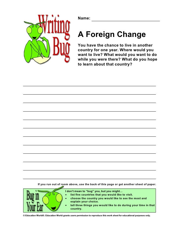 Name:                                                       A Foreign Change                                              ...