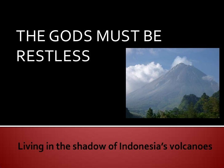 Living In The Shadow Of Indonesia'S Volcanoes