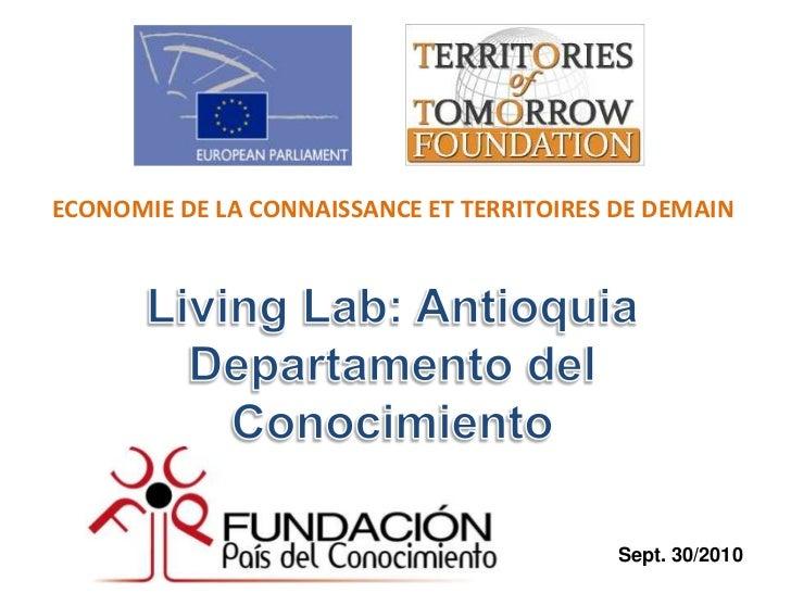 ECONOMIE DE LA CONNAISSANCE ET TERRITOIRES DE DEMAIN                                           Sept. 30/2010