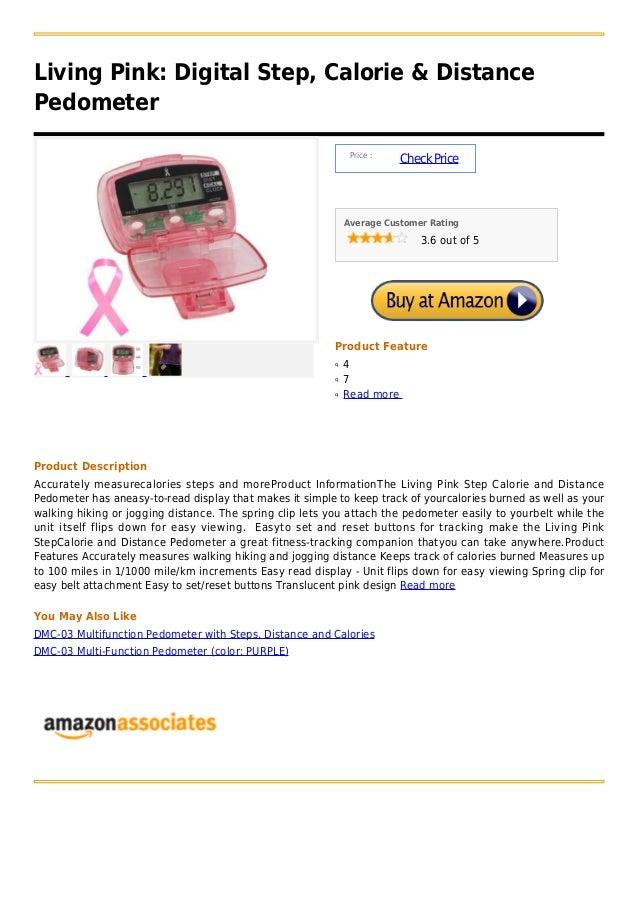 Living pink  digital step, calorie & distance pedometer