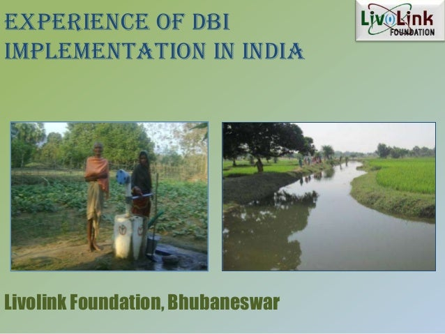 Experience of DBIImplementation in IndiaLivolink Foundation, Bhubaneswar