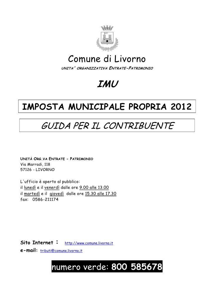 Livorno istruzioni imu