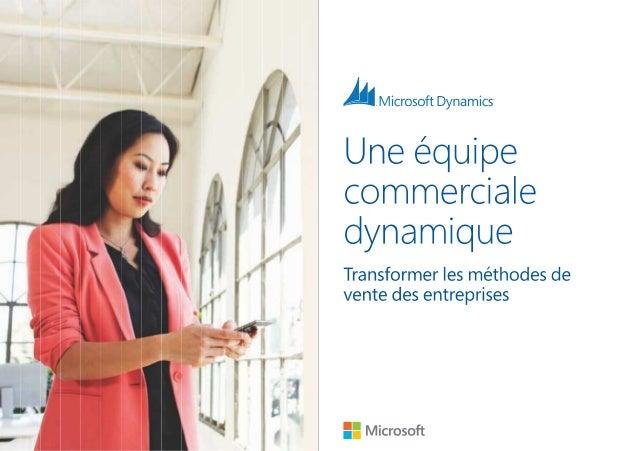 Livre Blanc Microsoft Dynamics : transformer les méthodes de vente des entreprises