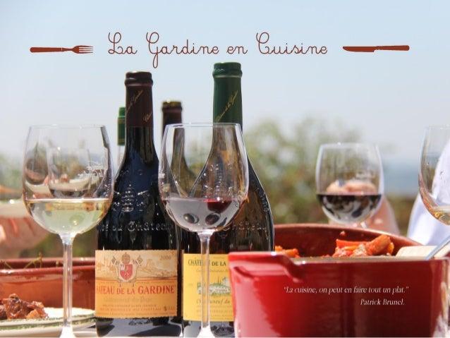 LA GARDINE EN CUISINE - Gardine's recipe  book / Livre de recettes du Chateau de la Gardine