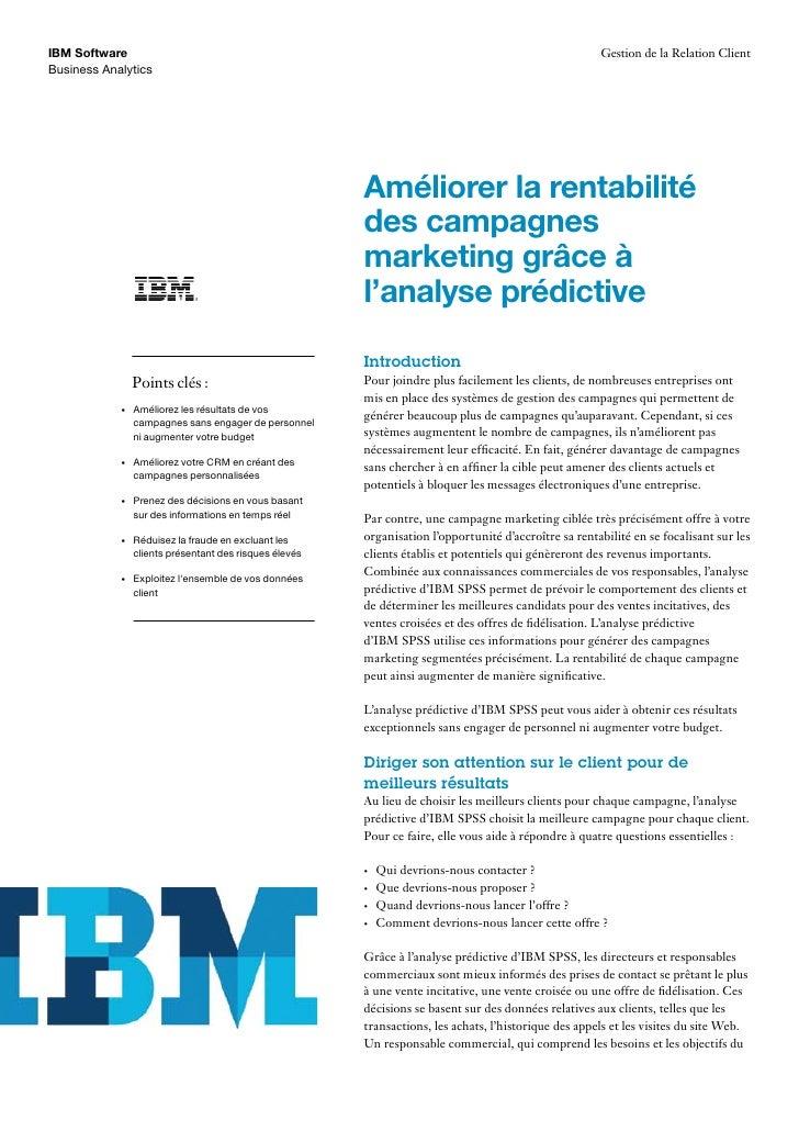 IBM Software                                                                                            Gestion de la Rela...