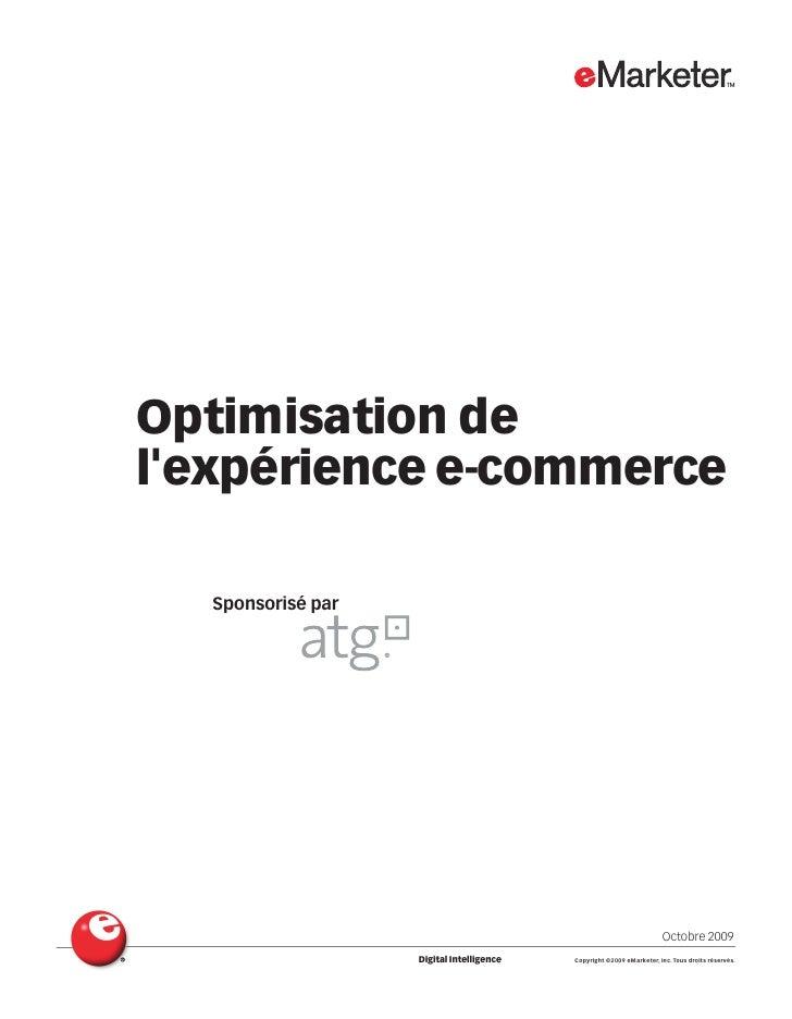 Optimisation delexpérience e-commerce  Sponsorisé par                                                                     ...