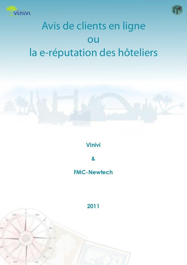 Avis de clients en ligne              oula e-réputation des hôteliers             Vinivi               &          FMC-Newt...