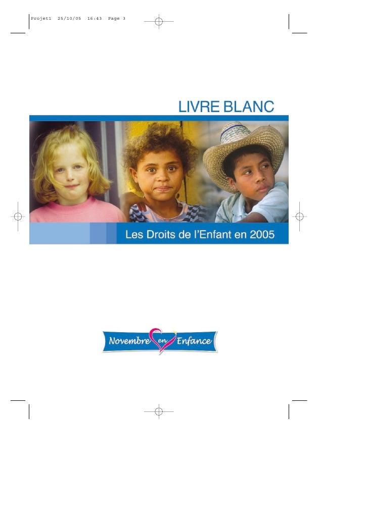 Livre Blanc sur les Droits de l'Enfant