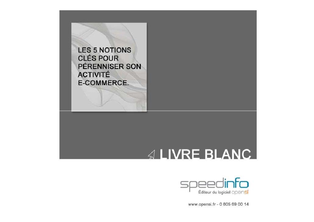 Livre blanc e-commerce & gestion  2012