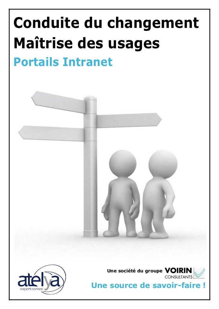 Conduite du changement & Maitrise des usages : Portails Intranet