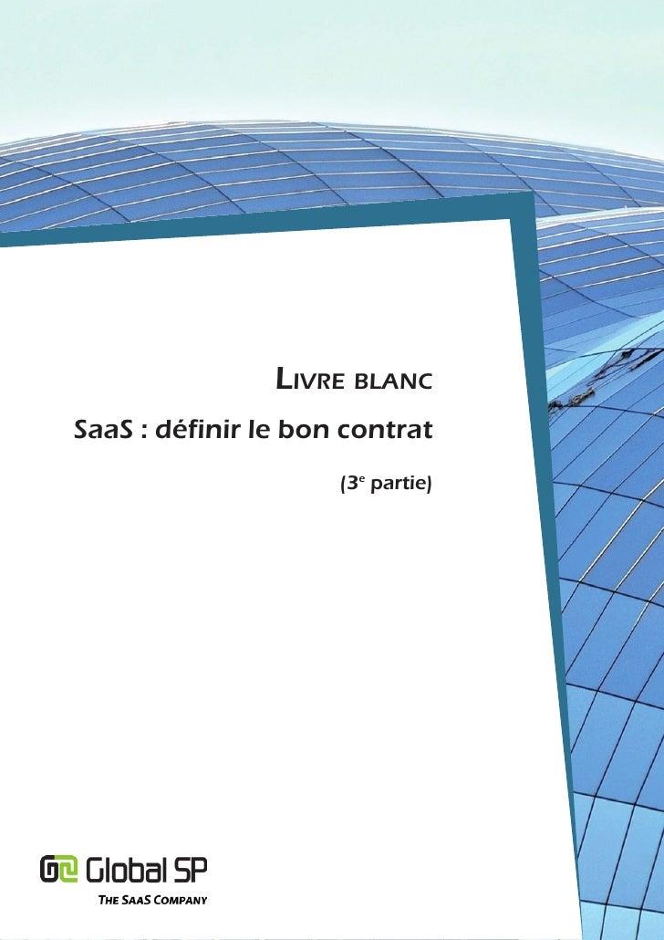 Livre bLancSaaS : définir le bon contrat                     (3e partie)