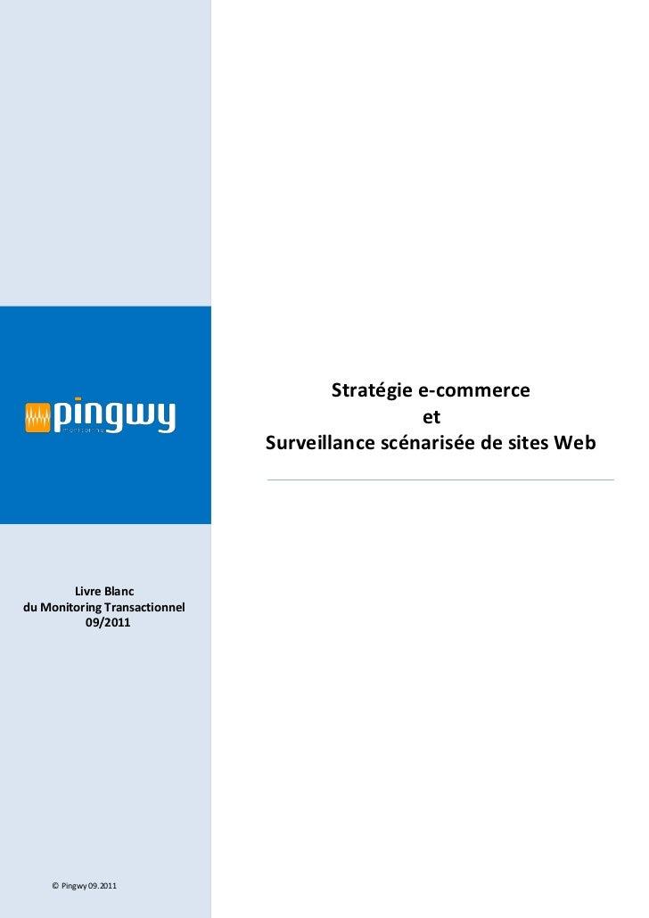 Stratégie e-commerce                                                 et                               Surveillance scénari...