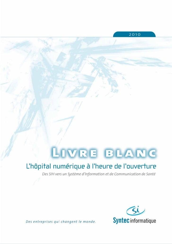 Livre blanc hopital numérique