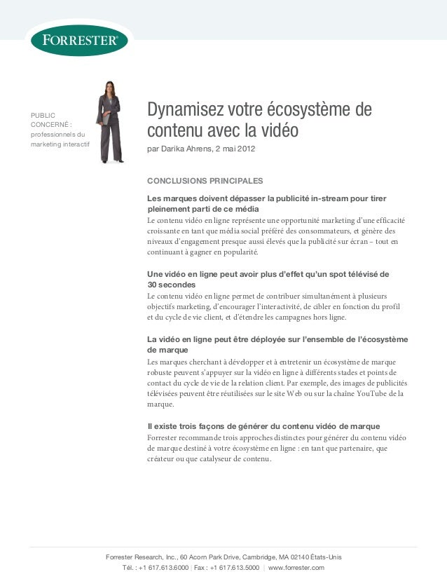 PUBLIC CONCERNÉ : professionnels du marketing interactif  Dynamisez votre écosystème de contenu avec la vidéo par Darika A...