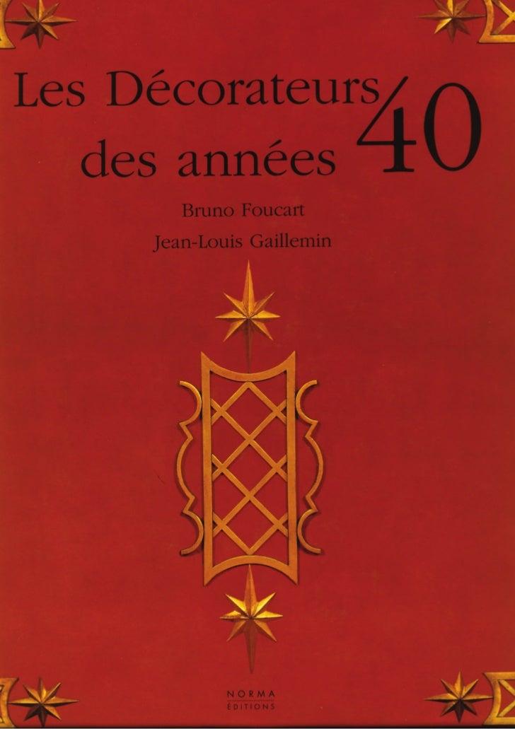 Les decorateurs des annees 40 (livre)