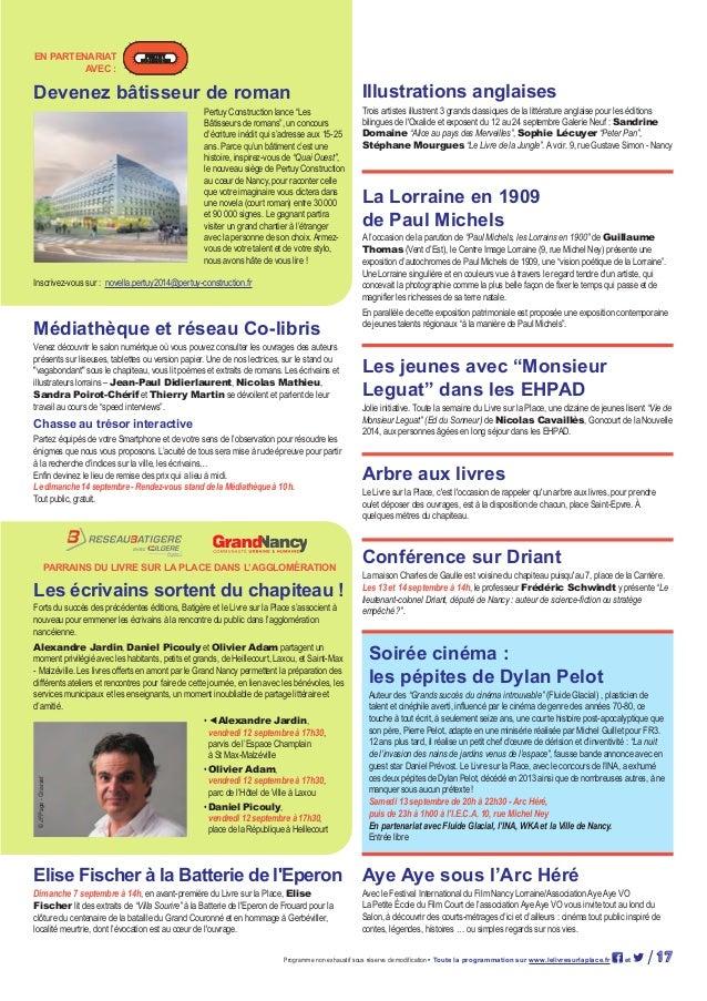 Programme 2014 du livre sur la place - Rue gustave simon nancy ...