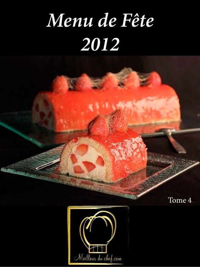 Menu de Fête   2012               Tome 4