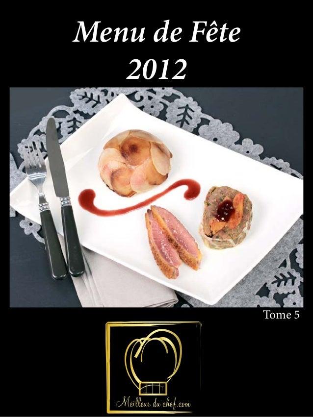 Menu de Fête   2012               Tome 5