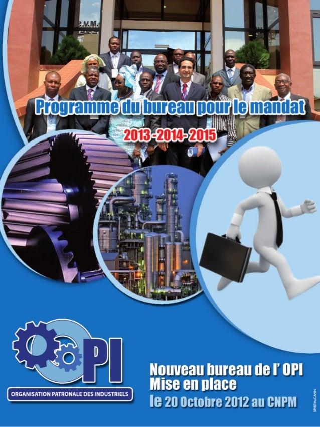 Livret OPI - Mandat du bureau pour le programme 2013 - 2014 - 2015