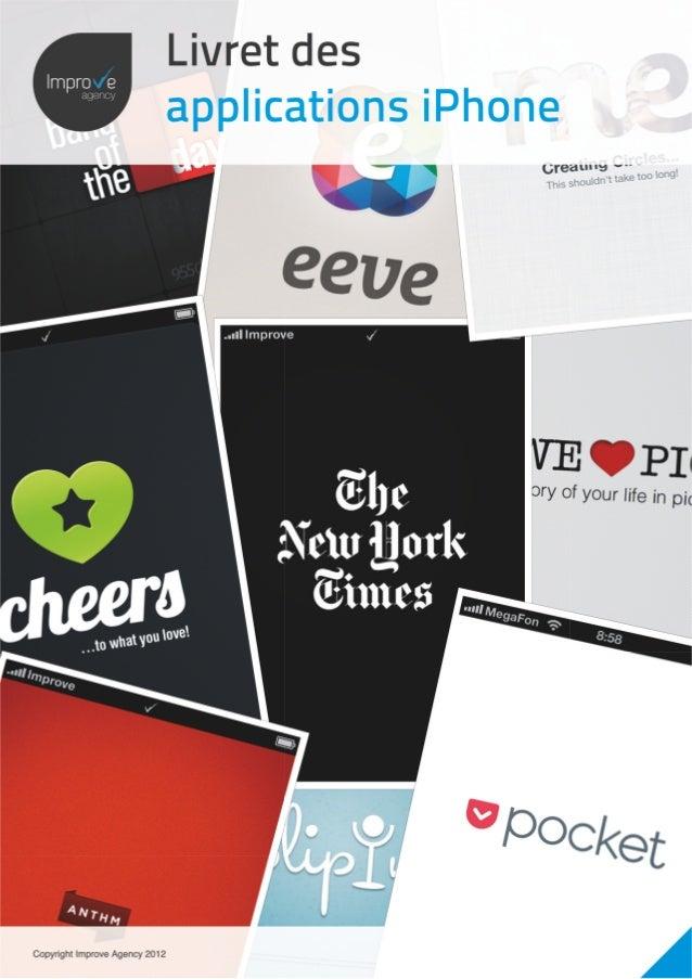Livre des applications iPhone 2012 - Titre Section              Improve agency© 2012Activity Feeds             Dabble     ...
