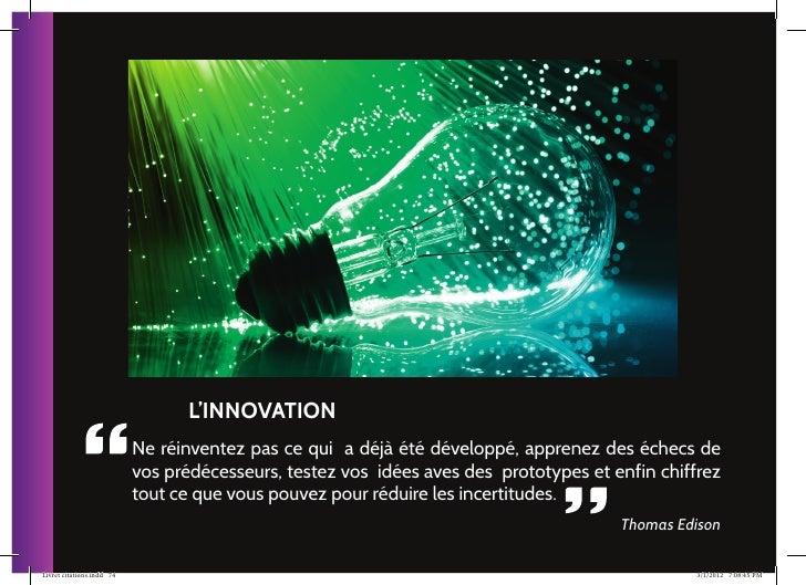 25 actions par la citation pour faire grandir votre entreprise for Idee innovation entreprise