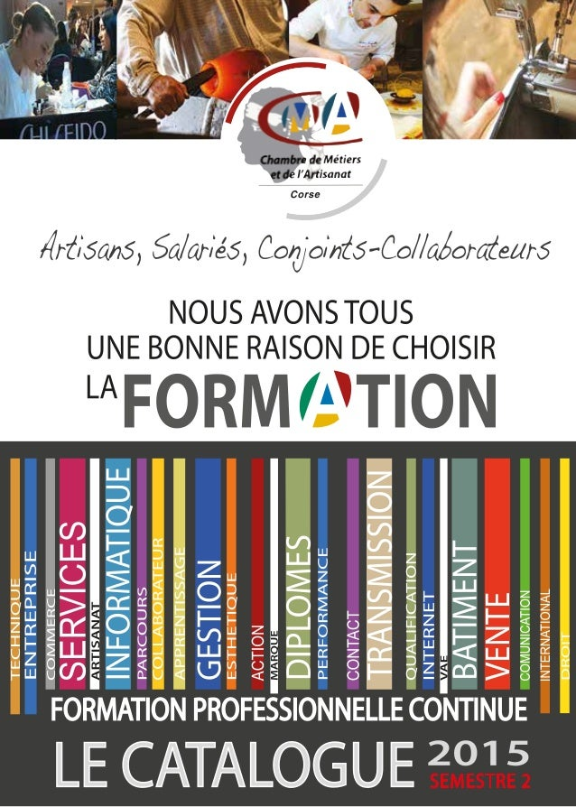 Catalogue formation 2015 semestre 2
