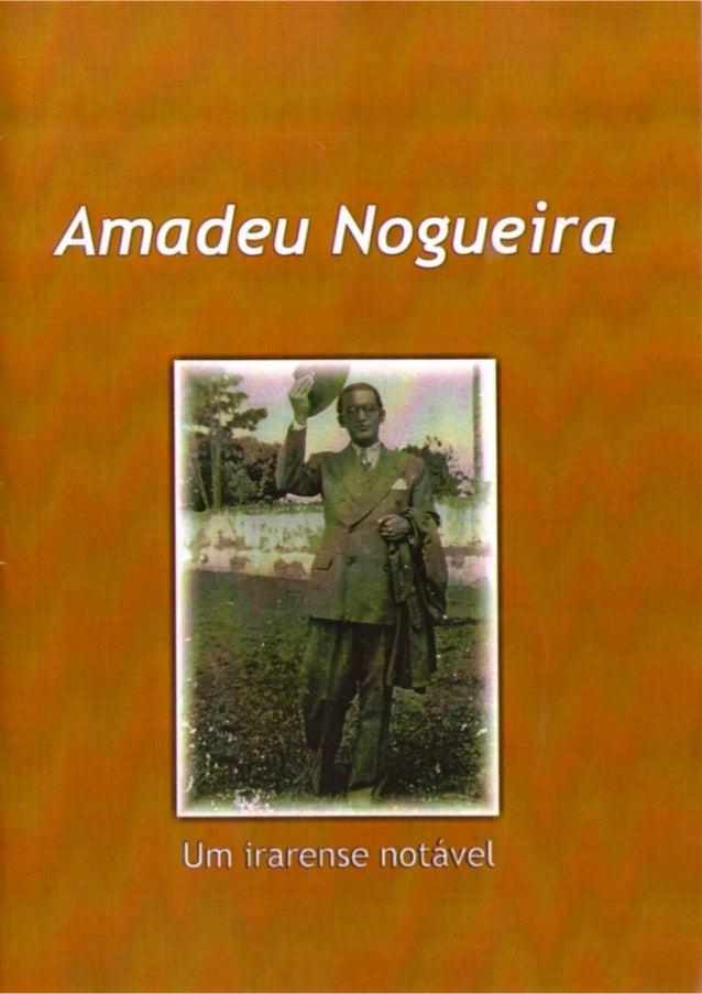 AMADEU NOGUEIRA - UM IRARAENSE NOTÁVEL