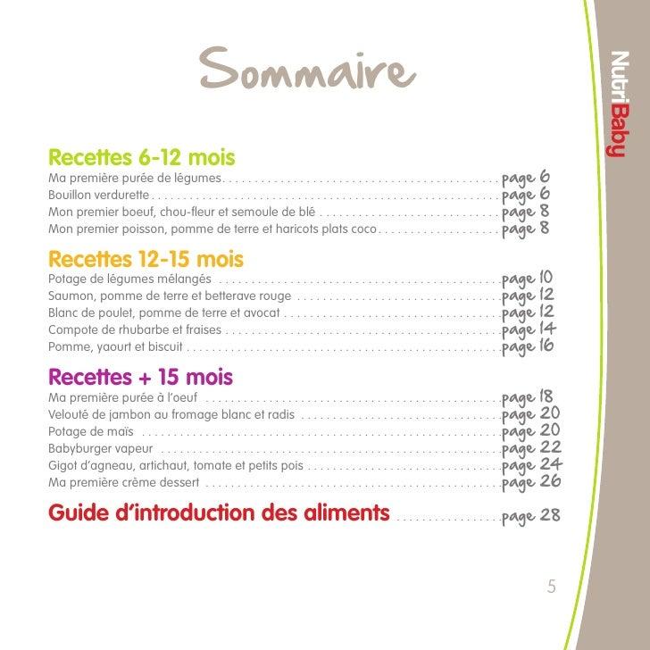 livre de recette pour bebe pdf