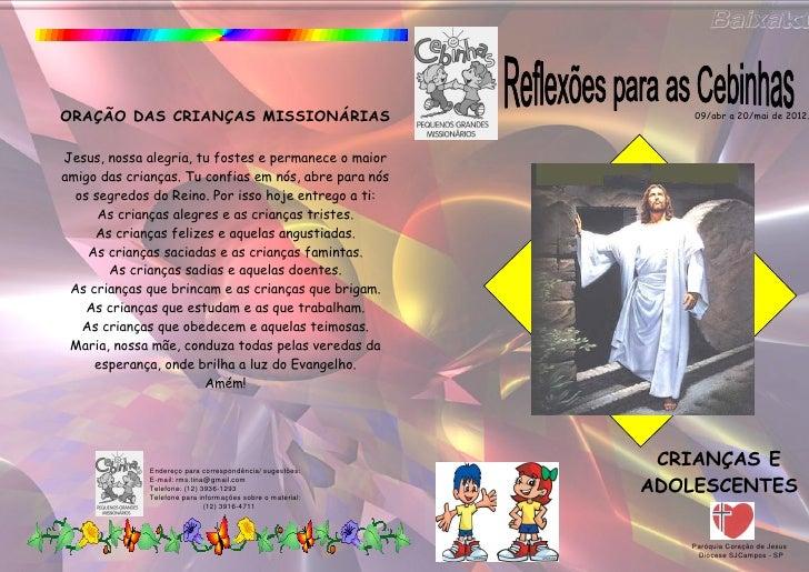 Livrinho da cebinhas de 09 abr a 20-mai de 2012