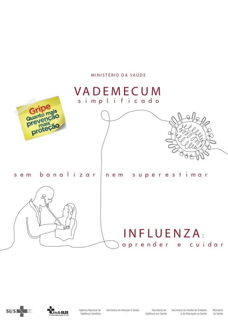 Livro   vademecum simplificado - influenza - ms