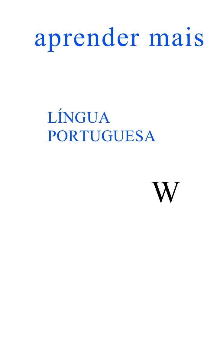 aprender mais LÍNGUA PORTUGUESA          W